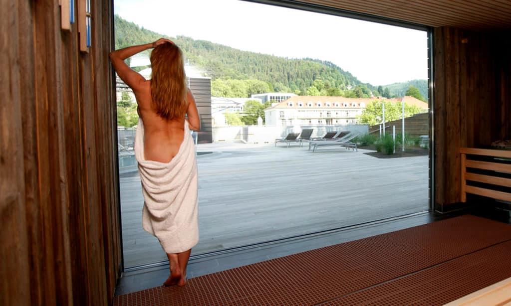 Panoramasauna der Saunalandschaft im Palais Thermal