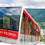 Bergbahn Bad Wildbad Schwarzwald in der Nähe des Wellnesshotels Moknis