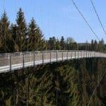 Hängeseilbrücke Wildline in der Nähe des Wellnesshotels Moknis