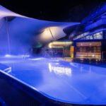 Thermalwasser Außenbecken bei Nacht im Wellnesshotel im Schwarzwald