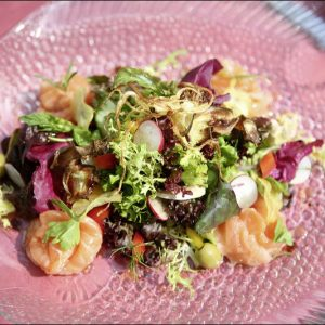 Frischer Garnelen Salat im Restaurant Rossini in Bad Wildbad