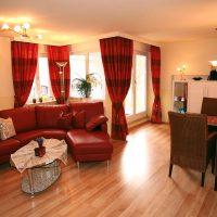 Wohnzimmer Ferienwohnung in Bad Wildbad im Wellnesshotel