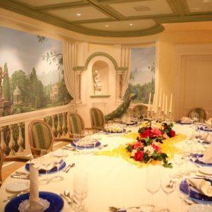 Dekorierter Raum für Veranstaltungen wie Geburtstage, Goldene Hochzeiten, Diamante Hochzeiten im Schwarzwald