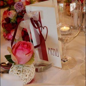 Menükarte einer Hochzeit in Bad Wildbad Badhotel Schwarzwald